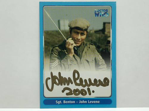 Doctor Who: SERIES 1 Autograph Trading Card: A9 - JOHN LEVENE as SGT. Benton