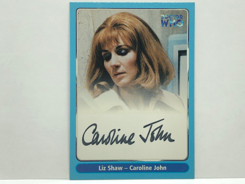 Doctor Who: SERIES 1 Autograph Trading Card: A10 - CAROLINE JOHN as Liz Shaw