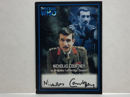 Doctor Who: SERIES 2 Autograph Trading Card: AU-4 - NICHOLAS COURTNEY as Brigadier Lethbridge Stewart