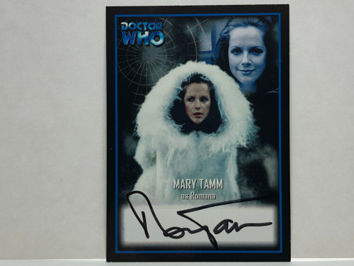Doctor Who: SERIES 2 Autograph Trading Card: AU-6 - MARY TAMM as Romana