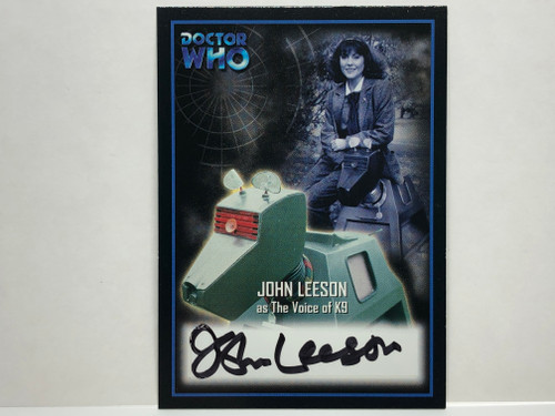 Doctor Who: SERIES 2 Autograph Trading Card: AU-9 - JOHN LEESON as The Voice of K9