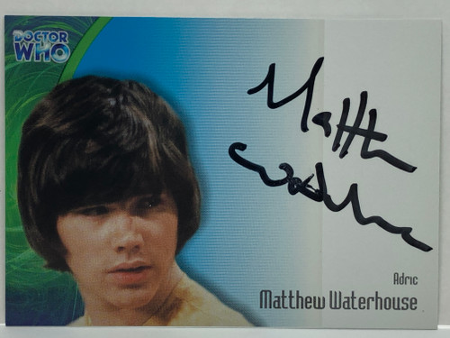 Doctor Who: SERIES 3 Autograph Trading Card: AU-3 - MATTHEW WATERHOUSE as Adric