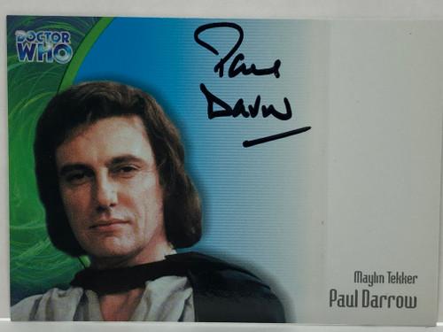 Doctor Who: SERIES 3 Autograph Trading Card: AU-8 - PAUL DARROW as Maylin Tekker