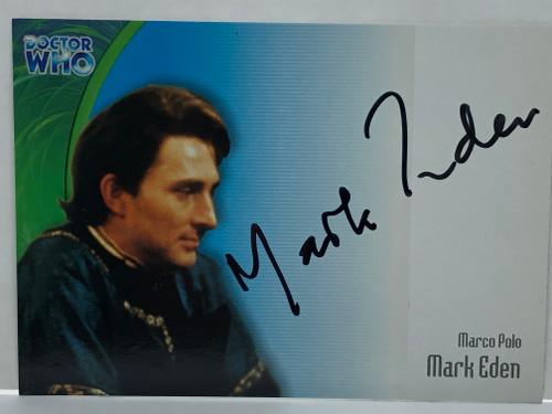 Doctor Who: SERIES 3 Autograph Trading Card: AU-9 - MARK EDEN as Marco Polo