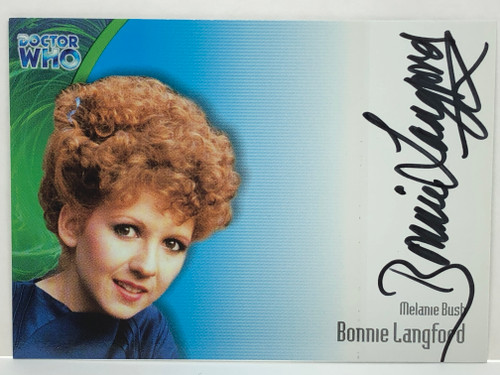 Doctor Who: SERIES 3 Autograph Trading Card: AU-12 - BONNIE LANGFORD as Melanie Bush