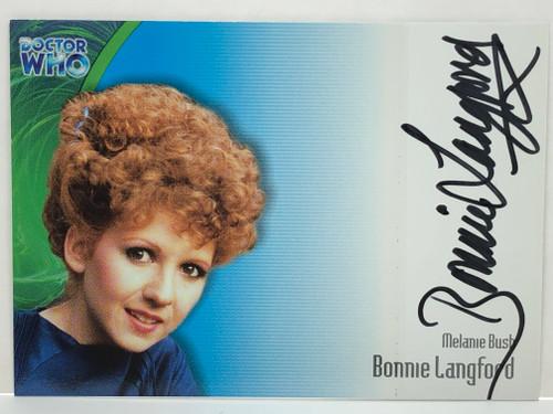 Doctor Who: SERIES 3 Autograph Trading Card: AU-12 - BONNIE LANGFORD as Melanie Bush