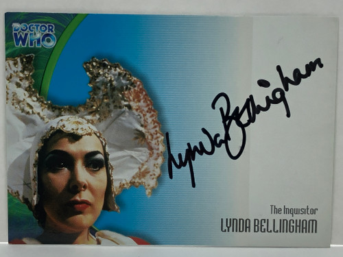 Doctor Who: SERIES 3 Autograph Trading Card: AU-13 - LYNDA BELLINGHAM as The Inquisitor
