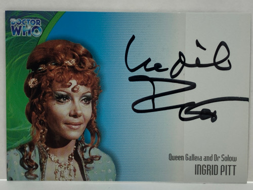 Doctor Who: SERIES 3 Autograph Trading Card: AU-14 - INGRID PITT as Queen Galleia/Dr. Solow