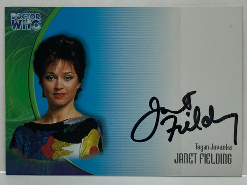 Doctor Who: SERIES 3 Autograph Trading Card: AU-17 - JANET FIELDING as Tegan Jovanka