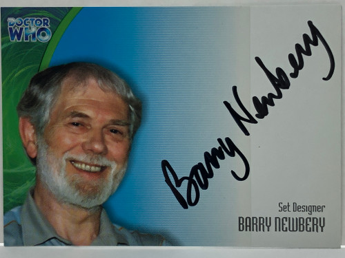 Doctor Who: SERIES 3 Autograph Trading Card: AU-18 - BARRY NEWBERY - Set Designer