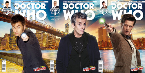 Doctor Who 10th - 11th - 12th Doctors 2015 NYCC Exclusive Comic Book Set of 3 (with connecting covers)