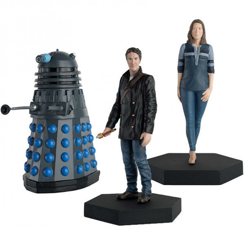 Doctor Who: BIG FINISH 8th Doctor -  Liv Chenka and one Dalek! - Eaglemoss Figurine Limited DARK EYES Set