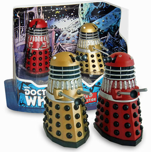 Doctor Who: CHILDREN OF THE REVOLUTION - Special 3.75 Inch Dalek Collector Figure 2 Pack - Character Options