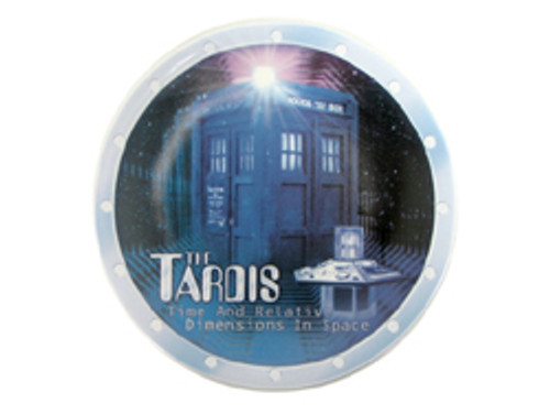 "Doctor Who: TARDIS - UK Exclusive Bone China 8"" Collector's Plate (Doctor Who Store.Com Exclusive)"