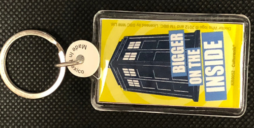 Doctor Who: BIGGER ON THE INSIDE - Lucite Keyring Keychain by Culturenik