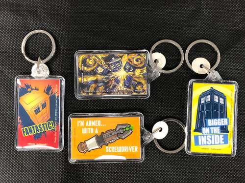 Doctor Who: Set of 4 - Lucite Keyring Keychain by Culturenik