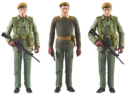 DOCTOR WHO: CLAWS OF AXOS - U.N.I.T.  - Action Figure Set of 3 (Brigadier - Sgt. John Benton - Capt. Mike Yates) Character Options