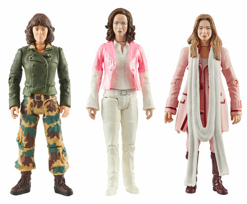 DOCTOR WHO: Companions of the 4th Doctor (Tom Baker) Action Figure Set of 3 (Sarah Jane - Romana - Romana II) Character Options