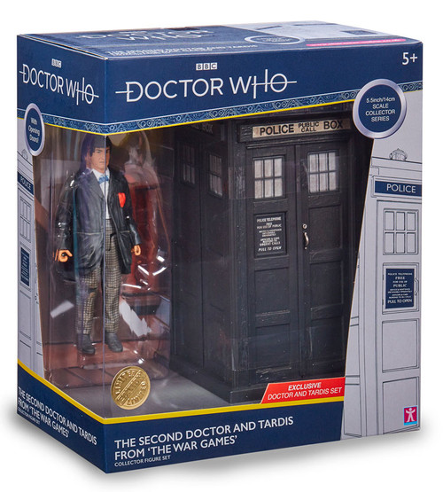 DOCTOR WHO: Second Doctor's TARDIS (Patrick Troughton) with Figure - Character Options