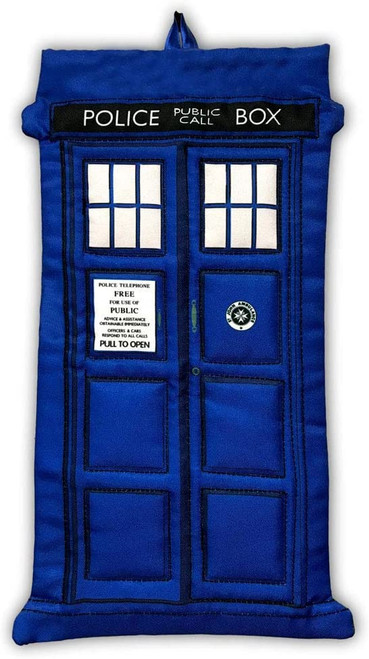 "Doctor Who TARDIS 16"" Christmas Holiday Die-Cut Decorating Stocking"