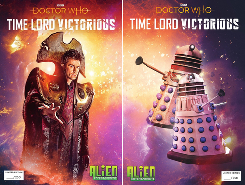 Doctor Who - TIME LORD VICTORIOUS Issues #1 & #2 - Alien Entertainment Exclusive Comic Book Limited Edition of only 250 - MATCHING NUMBERED SET (Read Description)