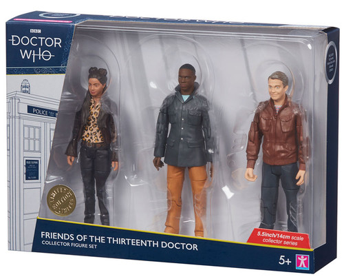 DOCTOR WHO: Friends of the 13th Doctor (GRAHAM - YAZ - RYAN) - Series 11 Action Figure - Character Options