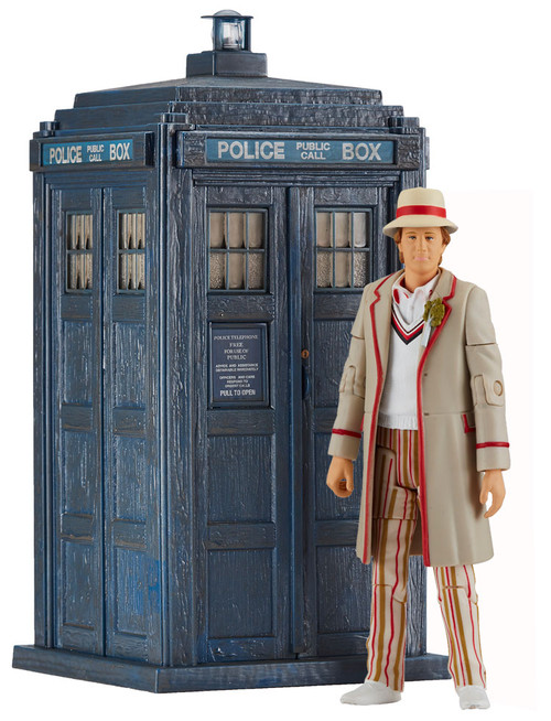 DOCTOR WHO: FIFTH Doctor's TARDIS (Peter Davison) with Figure - Character Options