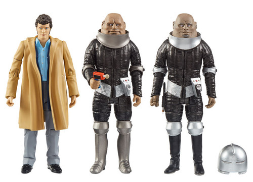 DOCTOR WHO: THE SONTARANS - Action Figure Set of 3 (HARRY SULLIVAN - STYRE - LINX) Character Options