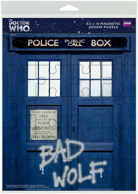 DOCTOR WHO: BAD WOLF TARDIS  (8.5x10 Inch) - 20-Piece Magnetic Jigsaw Puzzle