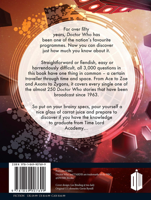 Doctor Who THE OFFICIAL QUIZ BOOK - BBC Paperback by Jacqueline Rayner