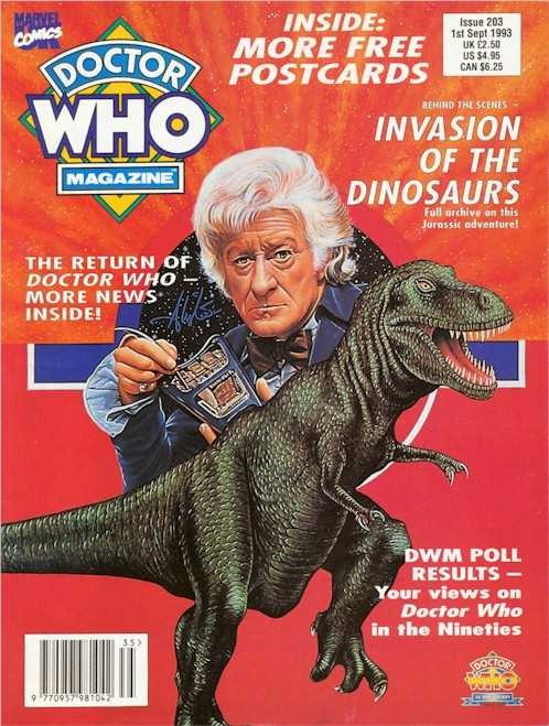 Doctor Who Magazine Issue #203 - Invasion of the Dinosaurs