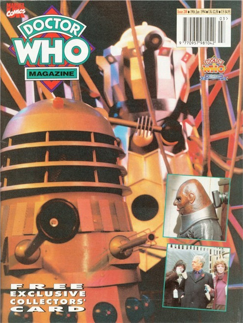 Doctor Who Magazine Issue #208 - FREE 30th Anniversary Promo Card)