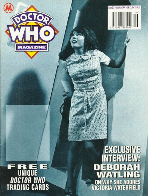 Doctor Who Magazine Issue #212 - with FREE PROMO TRADING CARDS