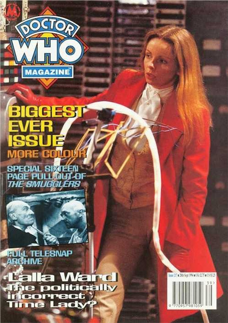 Doctor Who Magazine Issue #217 - Lalla Ward (New A4 Size Starts)