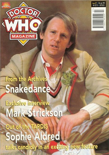 Doctor Who Magazine Issue #227 - Peter Davison