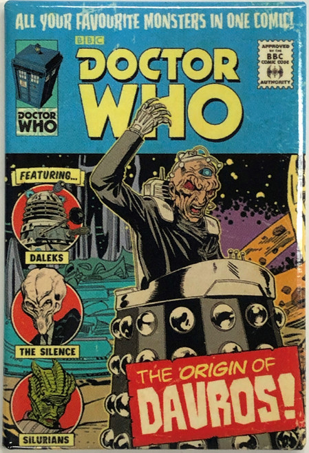 Doctor Who Comic Art Style Magnet - THE ORIGIN OF DAVROS