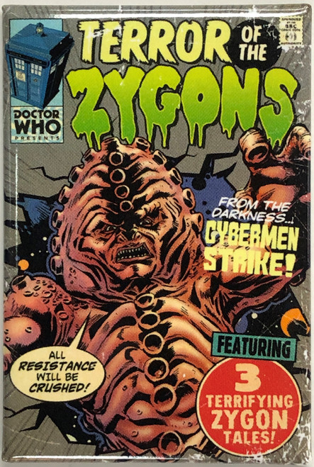 Doctor Who Comic Art Style Magnet - TERROR of the ZYGONS