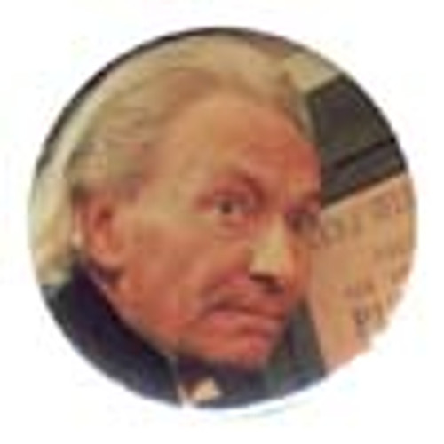 Doctor Who Vintage 1980's Button - 1st Doctor (William Hartnell)