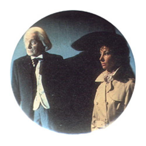 Doctor Who Vintage 1980's Button - 1st Doctor (R. Hurndall) & Susan (Carol Ann Ford)