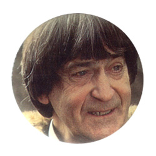 Doctor Who Vintage 1980's Button - 2nd Doctor (Patrick Troughton)