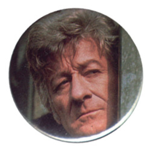 "Doctor Who Vintage 1980's Button - 3rd Doctor (Jon Pertwee) ""face"""