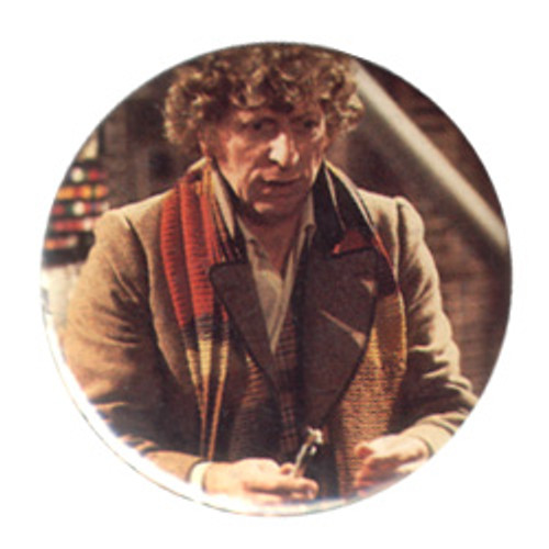 Doctor Who Vintage 1980's Button - 4th Doctor (Tom Baker) with Sonic Screwdriver