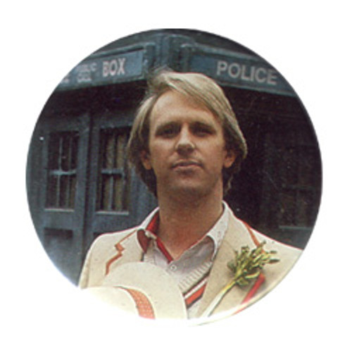 Doctor Who Vintage 1980's Button - 5th Doctor (Peter Davison)