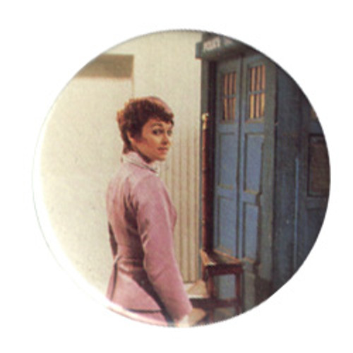 Doctor Who Vintage 1980's Button - Tegan Jovanka (Janet Fielding)
