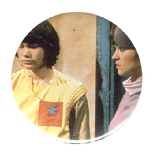 Doctor Who Vintage 1980's Button - Adric (M. Waterhouse) & Tegan (J. Fielding)