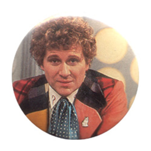Doctor Who Vintage 1980's Button - 6th Doctor (Colin Baker)