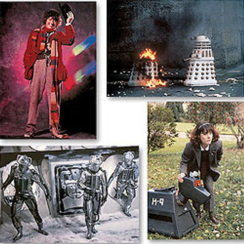 Doctor Who Classic TV UK Imported Greeting Card set #1 (4 different cards)