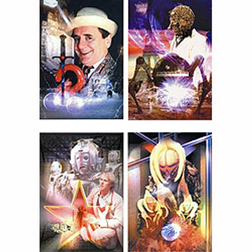 Doctor Who Classic TV UK Imported Greeting Card set #3 (4 different cards)