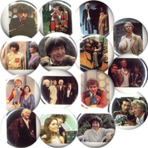 Doctor Who Vintage 1980's Button Set of 15