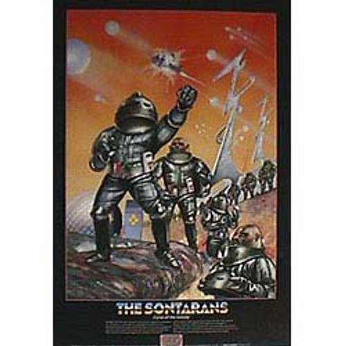 Doctor Who Vintage 1980's Laminated Poster - SONTARANS